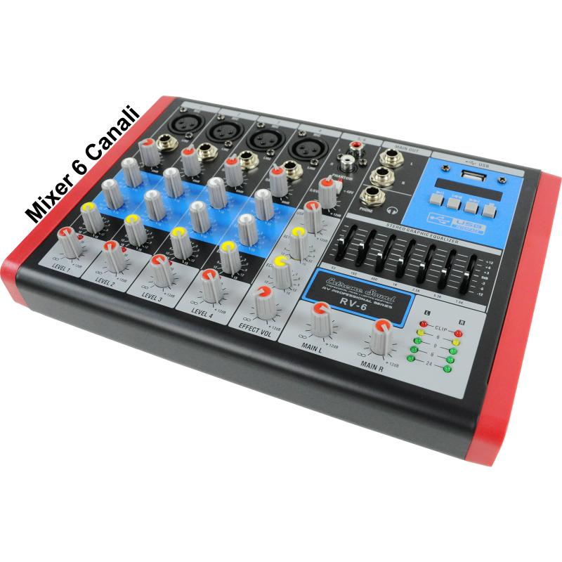 mixer 6 canali sei