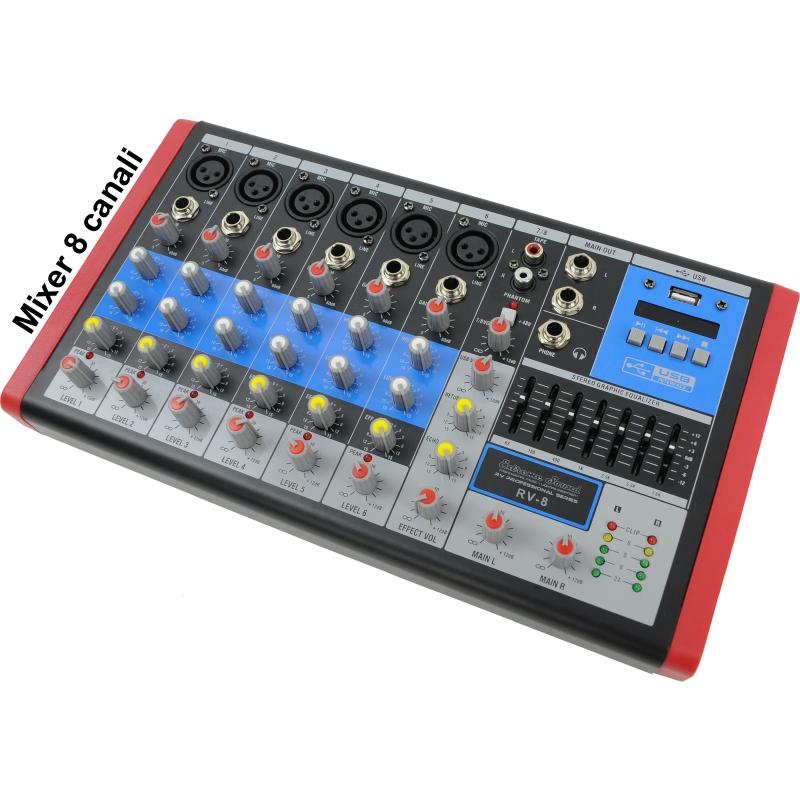 mixer audio 8 canali