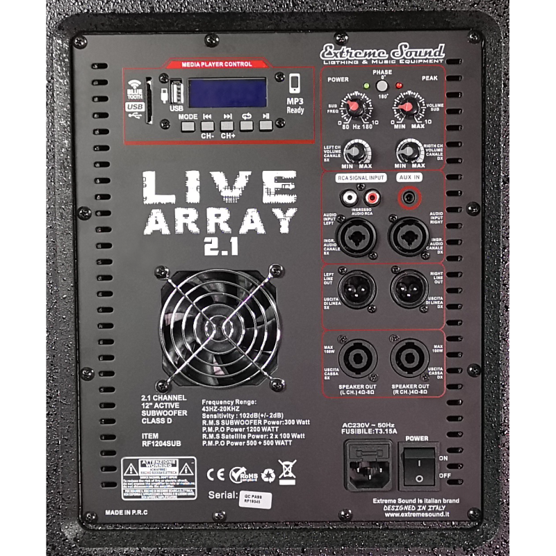 Subwoofer per impianto live array